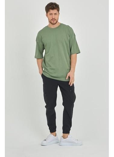 XHAN Yeşil Erkek T-Shirt 1Kxe1-44793-08 Yeşil